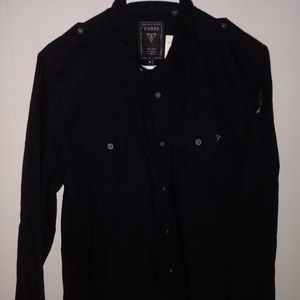 Guess Button Down Shirt Black